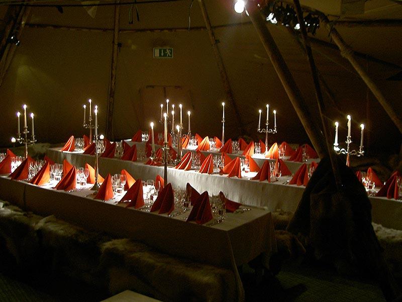 nordic tipi inrichting kerst