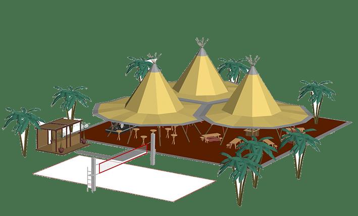 Voorbeeld schets zweedse tenten bomen