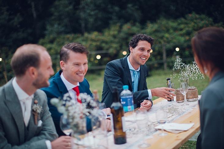 bruiloft in tent