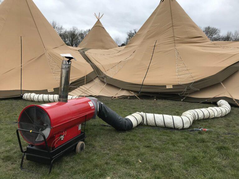 verwarmen winterbruiloft tent